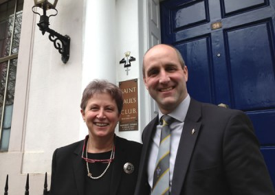 Gisela Stuart, MP for Birmingham Edgbaston, with Bart Dalton